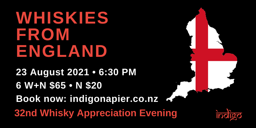Whiskies from England – 32nd Whisky Appreciation Evening